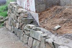 trockenmauer selber machen garten terrasse