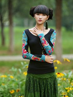 spring love embroidered top