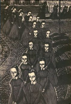 Artwork by Fritz Eichenberg for Jane Eyre (Random House, 1943)