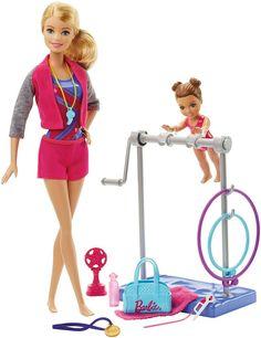 Amazon.es: Barbie - Muñeca, entrenadora de gimnasia (Mattel DKJ21): Juguetes y juegos