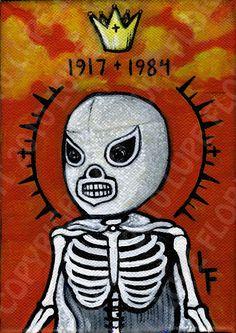 EL SANTO Lucha Libre day of the dead