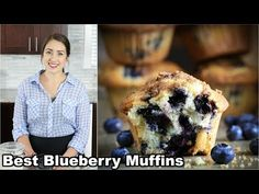 Best Blueberry Muffins Recipe (VIDEO) - Simply Home Cooked This easy Blueberry Muffin recipe is to die for! They are super moist and fluffy. Topped with a cru Healthy Blueberry Desserts, Homemade Blueberry Muffins, Healthy Banana Muffins, Pineapple Banana Bread Recipe, Almond Coconut Cake, Simple Muffin Recipe, Oatmeal Chocolate Chip Cookies, Food Platters, Cafe Food