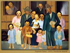 """A Jurubeba Cultural: ● Um pouco de... Tarsila do Amaral (""""2ª classe, 1933"""").                         ..."""