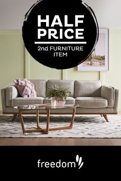 Get off your second furniture item. Shop our website today. 2nd Hand Furniture, Freedom Furniture, Home Furniture, Round Coffee Table Modern, Coffee Tables, Indoor Outdoor Furniture, New Room, Home Living Room, Room Decor