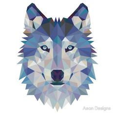 Geometric Wolf by Aeon Designs