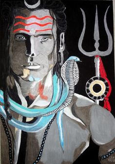 Lord Shiva - 16in X 24in,ART_NASH07_1624,Artist Neha Singh,Mahadev,Shiva,Shankar…