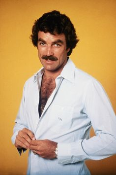 Tom Selleck, I love the hairy chest!!! When did it go out of style.