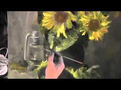 Научиться рисовать подсолнухи малом, Сахаров Игорь, уроки живописи - YouTube