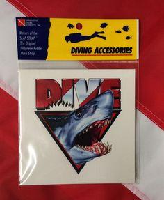 Dive sticker amphibious outfitter scuba diving equipment novelty DIVE shark fun #Innovativescuba