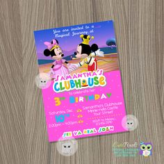 Minnie Mouse Invitation, Minnie-Rella Invitation, Minnie Mouse Birthday, Minnie Mouse Pink, Minnie Mouse Party, Minnie Princess Invitation by CutePixels on Etsy