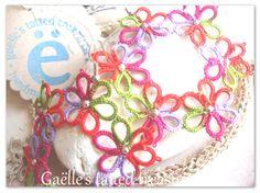 Guarda questo articolo nel mio negozio Etsy https://www.etsy.com/listing/225791851/tatted-lace-earrings-flowers