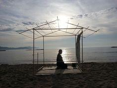 竹の茶室 京都府夕日ヶ浦 bamboo tea house at sunset beach
