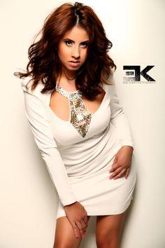 Yizdey in White Dress.