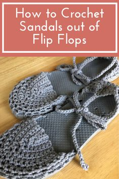 How to Crochet Sandals Out of Flip Flops | Crochet Shoes Free Pattern I Crochet Shoes Slip Stitch Crochet, Crochet Slippers, Crochet Baby, Free Crochet, Knit Crochet, Crochet Granny, Crochet Shawl, Crochet Sandals, Espadrilles Outfit