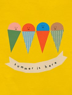 Festive Summer by Anna Kövecses, via Behance