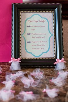 "Don't say ""baby"" game - The Sweatman Family: ""Tutu Thrilled"" Baby Shower {Details}"