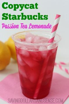 I bet you can't tell the difference between this Copycat Starbucks Passion Tea Lemonade and the real thing.