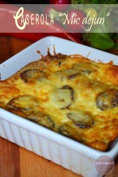 "Caserola ""Mic dejun"" Dukan Diet, Empanadas, I Foods, Macaroni And Cheese, Healthy Recipes, Healthy Food, Breakfast, Ethnic Recipes, Ferrero Rocher"