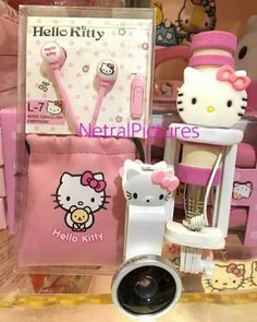 #set #tongsis mini + #earphone + #superwide #hellokitty @ 125.000