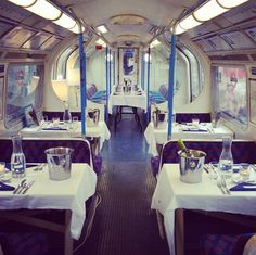 basement galley restaurant- eat in a tube train!