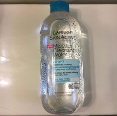 Take it All Off: Garnier SkinActive Micellar Cleansing Water Garnier Skin Care, Cleansing Water, Waterproof Mascara, Makeup Remover, Vodka Bottle, Cleanse, Skincare, Beauty, Make Up Remover