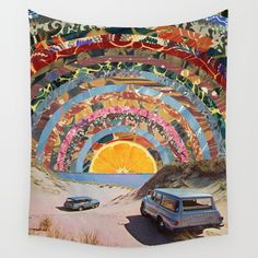 Orange sunset Wall Tapestry by Blaz Rojs. Worldwide shipping available at Society6.com. Just one of millions of high quality products available.