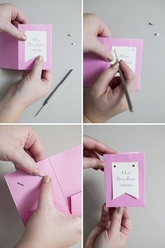 "DIY // How to make ""Wedding Vow Notebooks""...a simple little touch that will be such a memorable keepsake for you after the wedding!"