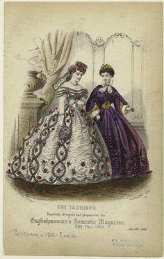 Englishwoman's Domestic Magazine, January 1863.