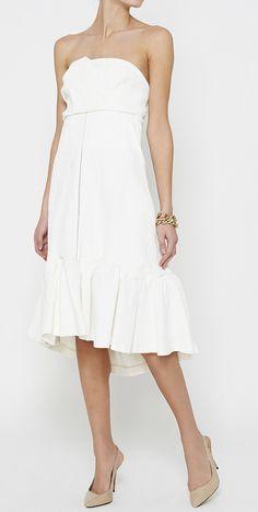 Ruffled White Dress