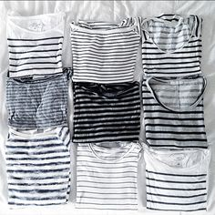 striped tee obsession #style #fashion #stripes | @andwhatelse