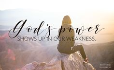 "We don't need to keep pretending we're fine. What we need, to have and to be, is a friend who says ""you don't have to be strong all the time."" A friend who gives us permission to be weak and remind us of the truth we so easily forget: God's power shows up in our weakness when we're willing to be real about our struggles and our need for His strength. // Renee Swope from #cravingconnection"