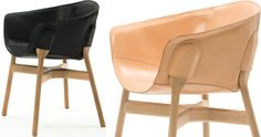 Pocket chair i sort eller natur læder 12.995 kr. www.homeofhansen.dk