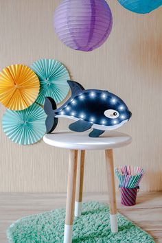 Our product is the unique Orca night lamp that is made with love and care for the most important people in your life. This Orca night light works on the simple batteries, which is very convenient because you can place it anywhere you want. Marquee light is made from birch plywood and its perfect for baby room decor or as a gift for any person, as a baby shower gift. * Made from birch plywood * 2xAA included batteries * Have a switch for easy on/off or DIMMER SWITCH. * Painted with Itali...