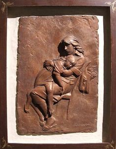 Bruno Lucchesi, After Shopping (Bas Relief), Ed. 4/6, 1980, terracotta, 17 1/4 X 13 1/4 inches