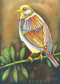 Beautiful Bird 2 PRINT by BijousWhimsy on Etsy