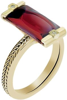 BACCARAT So Insomnight 18kt Ruby Iridescent Ring.  (I'd be happy with a similar ring in garnet; it's the setting and the cut that I love).