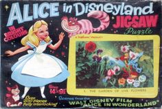 Vintage Disney Alice in Wonderland: Welcom Jigsaw Puzzle Black Box Series from England - #3 The Garden of Live Flowers