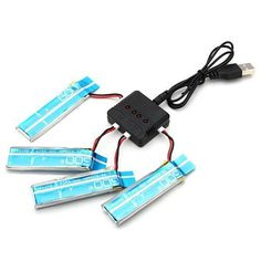4 x WLtoys V977 V930 3.7V 520MAH Upgrade Battery With Charger  | eBay