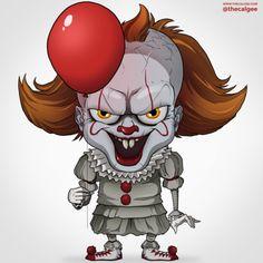 Horror Icons, Horror Comics, Arte Horror, Horror Art, Evil Clown Tattoos, Horror Drawing, Le Clown, Pennywise The Dancing Clown, Evil Clowns