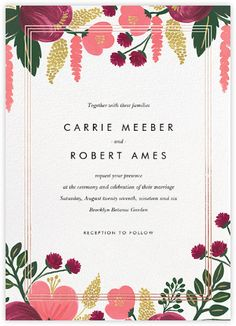 Romantic wedding invitations - online and paper - Paperless Post