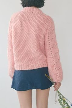 Ganni Faucher Pullover Cloud Pink Mohair Wool pre-fall summer pas mal nyc greenpoint new york boutique shopping