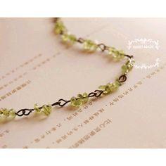 Cool Natural Olivine Beaded Link #Bracelet #chemjoy.com