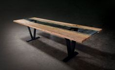 Sentient Brooklyn - Colorado Live Edge & Glass Dining Table