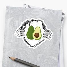 'Funny Avocado Ripped Shirt ' Sticker by Unbeatable Apparel Ripped Shirts, Plant Based, Avocado, Stickers, Art Prints, Funny, Artist, Vegan, Printed