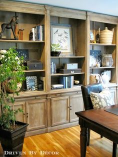 bookcase for living room House Tour: Home Office