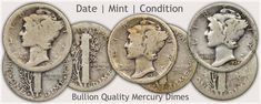 Examples of Mercury Dimes in Bullion Quality Condition Valuable Pennies, Valuable Coins, Old Coins Worth Money, Old Money, Silver Dimes, Silver Coins, Silver Value, Old Coins Value, Sell Coins