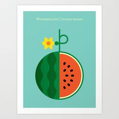 Fruit: Watermelon Art Print by Christopher Dina - $22.00