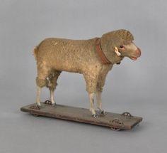Stick leg sheep pull toy