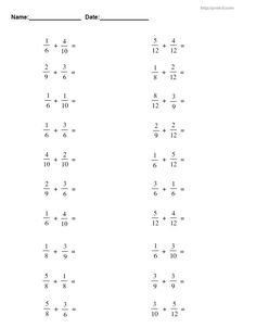 Subtraction Work Sheets - subtraction worksheets free math worksheets wel e to the subtraction worksheets page at math drills where you will less of a. Fractions Worksheets Grade 3, Free Fraction Worksheets, 3rd Grade Fractions, Subtraction Worksheets, Alphabet Code, Maths Solutions, Math Notes, Math About Me, Math Notebooks
