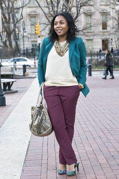 Jewel Tones ~ Emerald Blazer & Ruby Pants | Kéla's Kloset | Kéla's Kloset